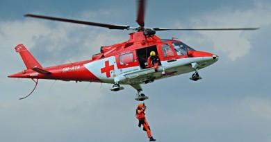 Vrtuľníková záchranná služba bilancovala rok 2016