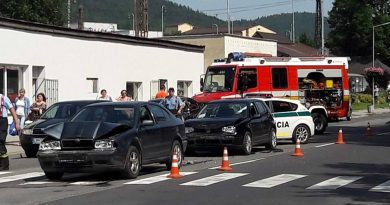 Nehoda troch vozidiel v Liptovskom Hrádku