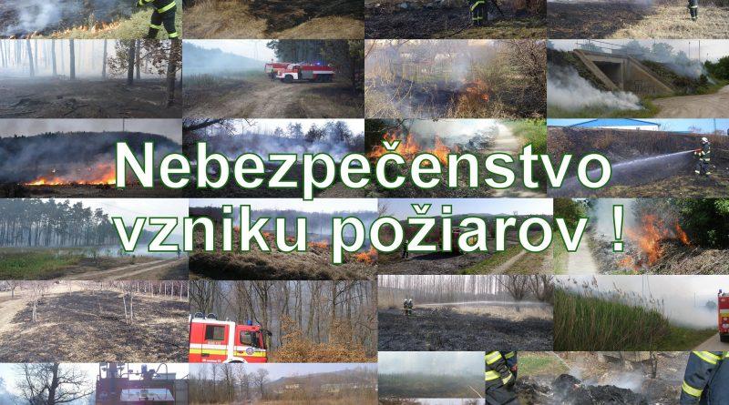 Hasiči vyhlasujú čas zvýšeného nebezpečenstva vzniku požiaru