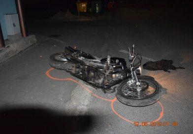 Motocyklista v Hrádku havaroval