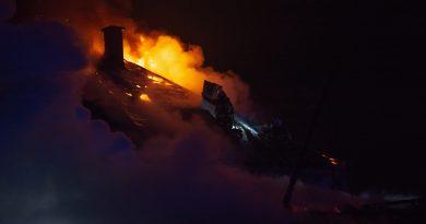 Nočný požiar v Kvačanoch