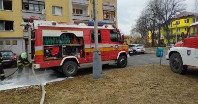 Požiar bytu v Liptovskom Hrádku