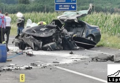 Vážna dopravná nehoda pri Beňadikovej